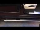 Перевод в сервисный режим выдвижных порогов Range Rover