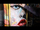 How To Paint Pop Art Painting with Abstract Painting Background   Lola