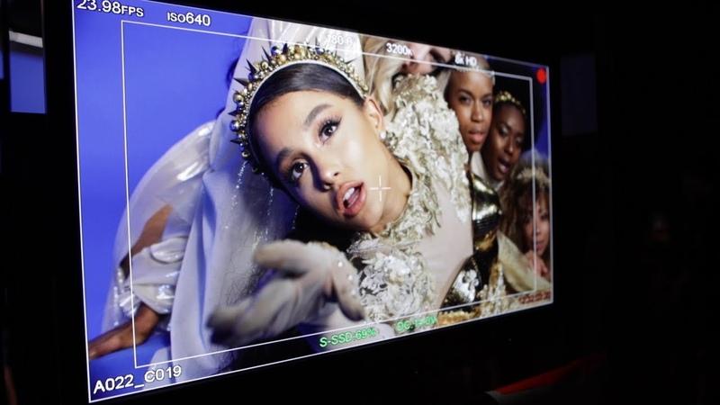 Ariana Grande - God is a woman (не большое видео о том как снимали клип) паблик GRANDE