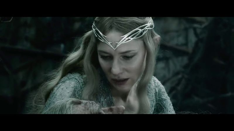 Хоббит: Битва пяти воинств - Галадриэль спасает Гэндальфа. Саруман и Элронд против назгулов