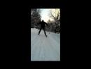 20.02.18 - Катаем сына на ледянке, папа в виде беговой лошади