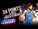 Paul George Full Highlights WCR1 Game 5 OKC Thunder vs Jazz - 34 PtsUNREAL COMEBACK! | FreeDawkins