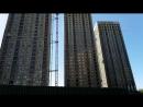 ЖК Эталон-Сити : башни Токио (со стороны 3-го корпуса). Утепляют по всей площади
