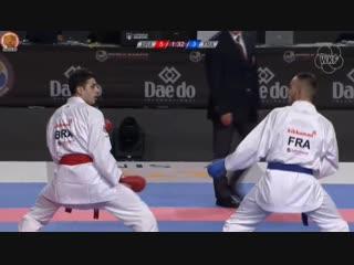 ЧМ 2018. Финал до 67 кг: Винисиус Фигуейра (Бразилия) - Стивен Дакоста (Франция).