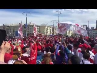 Катюша в исполнение болельщиков Перу