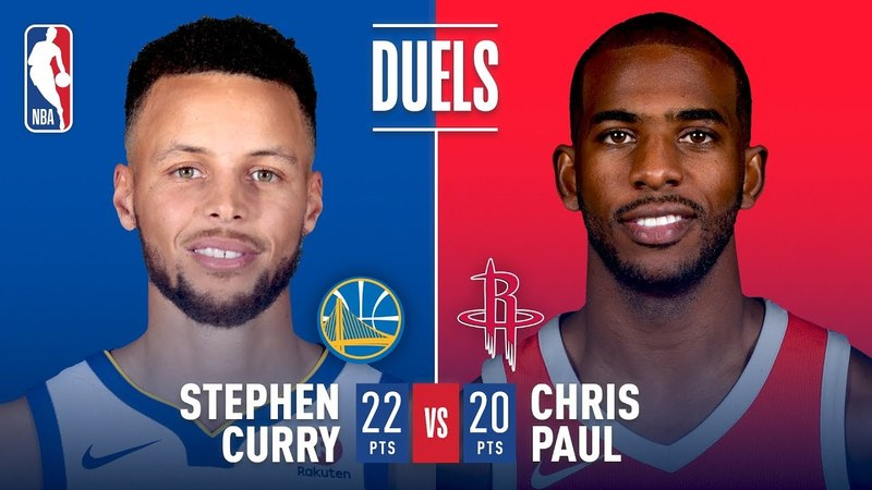 Chris Paul Stephen Curry Battle In Game 5 NBANews NBA NBAPlayoffs Rockets ChrisPaul Warriors StephenCurry