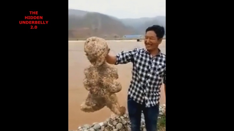 Bizarre Humanoid Sea Creature Found Alive. China, July 9, 2018