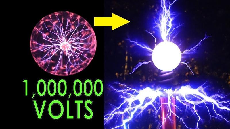 DIY Overclocked Plasma Globe. 2500V to a MILLION volts