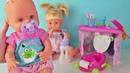 Пупсики распаковка куклы Ненуко набор ванная комната. Открываем и играем/Зырики ТВ видео для девочек