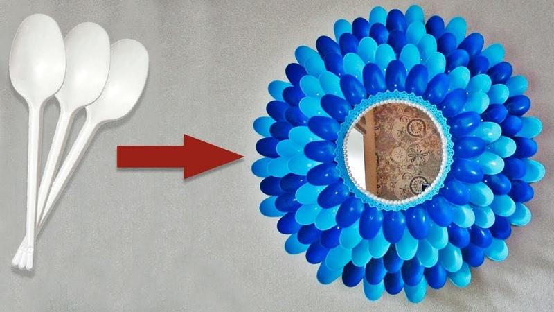 Идея декора из пластиковых ложек. Поделки своими руками
