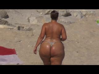 Баба с большой попой, woman milf mature girl freak extreme bubble butt big fat ass topless sun hip incest string (hot&horny)