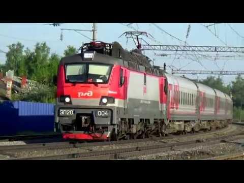 ЭП20 004 с пассажирским поездом Станция Вязники