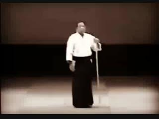 Saito Sensei performing the kata 31