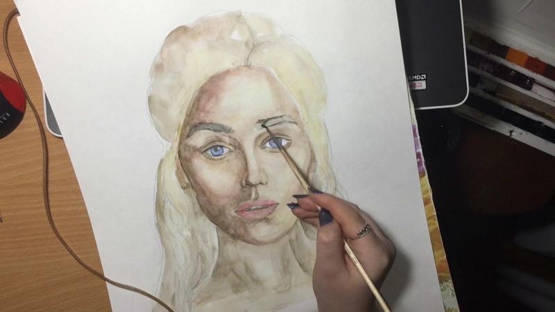 Рисую Дейенерис Таргариен. Игра престолов