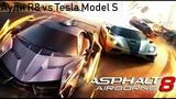 Asphalt 8 Ауди R8 vs Tesla Model S