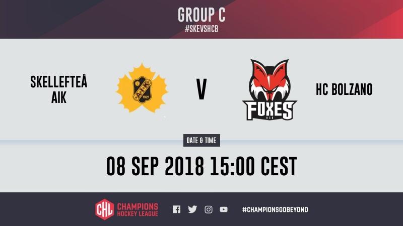 Highlights Skellefteå AIK vs HC Bolzano