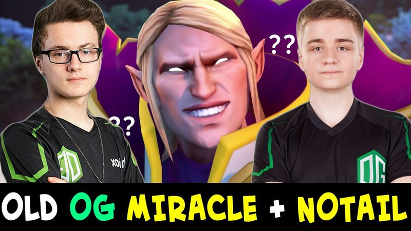 Miracle vs Topson Invoker mid — old OG lane with Notail