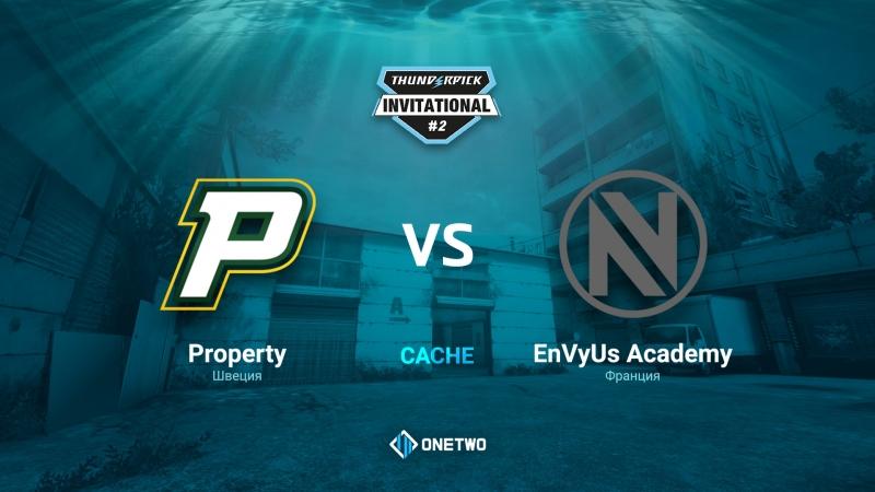 Thunderpick Invitational 2 | Porperty vs EnVyUs Academy| BO3 | de_cache | by Afor1zm