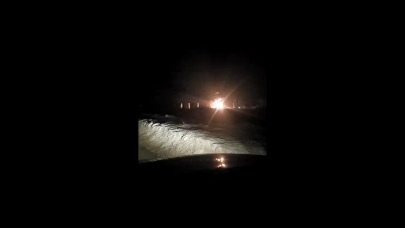 пожар нефтебаза рудник