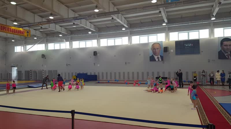 Наши младшие гимнастки