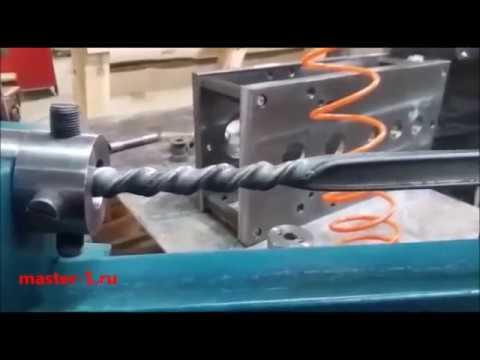Изготовление торсиона из усиленной профтрубы Станок ковки Мастер 2У
