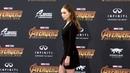 "Alycia Debnam Carey Avengers Infinity War"" World Premiere Purple Carpet"