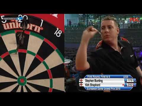 2018 European Darts Grand Prix Round 1 Bunting vs Shepherd