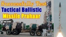 India successfully test fires short range tactical ballistic missile Prahaar