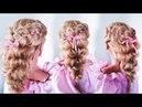 Надежная ПРИЧЕСКА НА ВЫПУСКНОЙ В САДИК пошагово| Плетение с лентой |Little Girl's Hairstyle Tutorial