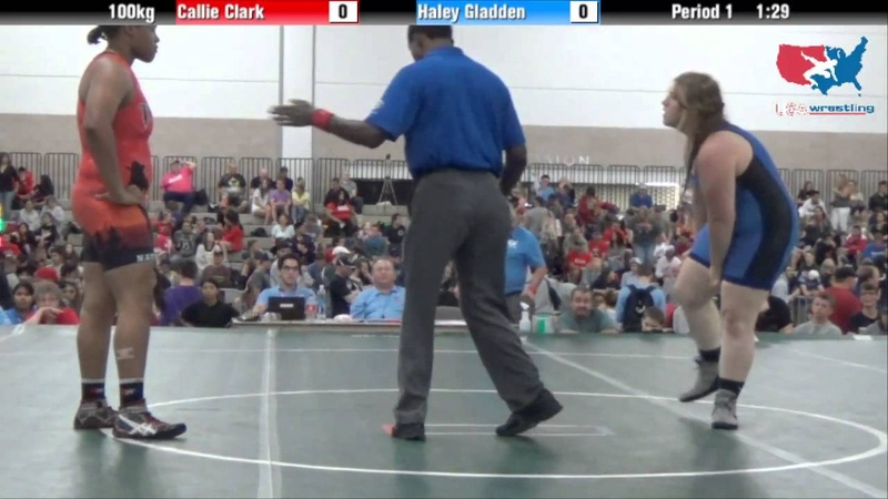 Cadet Best of 3 100kg Callie Clark vs Haley Gladden