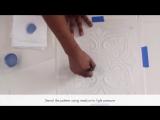 How to Paint a Tile Floor Design with Floor Stencils