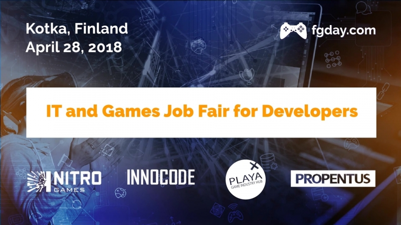 Invitation to IT and Games Job Fair, Kotka, 28 April