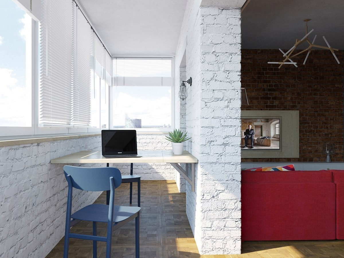 Проект квартиры 34 м .