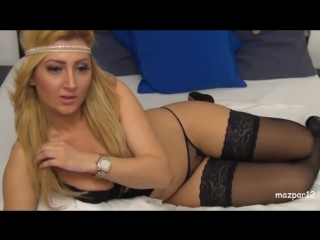 Fantastic wife in black lingerie and heels
