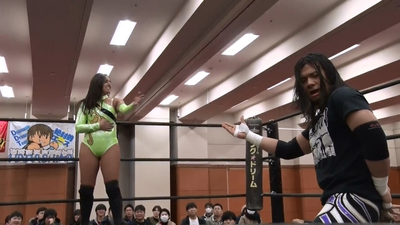 Daisuke Sasaki, Tetsuya Endo vs. Joey Ryan, Samara vs. Yukio Sakaguchi, Masahiro Takanashi (DDT - Still Does Not Know Gunma 2018