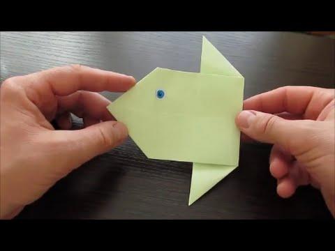 РЫБА - ЛУНА. Легкое Оригами Для Детей / How to make fish origami easy