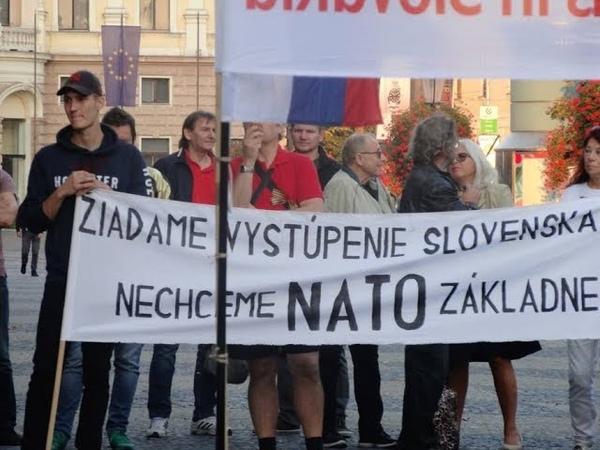 11.10.2018 Za Mier, Za Slovensko bez NATO, Cudzích Vojsk a Privandrovalcov