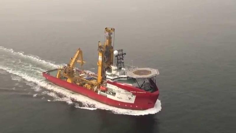 The Sapura Diamante during sea trials