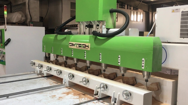 Bolivia 4 axis High Presicion Multi-heads 3D Woodworking CNC Router Machine with Multi-Rotary axis