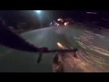 Велосипедист расстрелял байкеров фейерверками