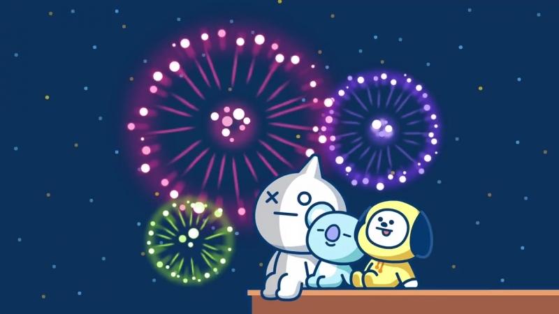 Summer night festa! - Fireworks Together VAN KOYA CHIMMY BT21
