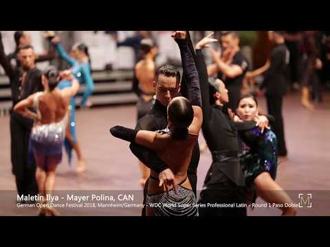Maletin Ilya - Mayer Polina, CAN   GOC 2018 Mannheim - WDC Pro LAT - R1 PD
