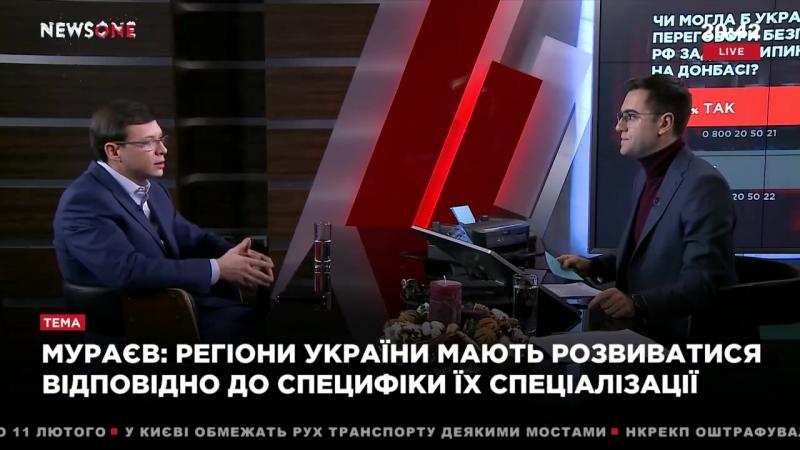 Евгений Мураев в Большом вечере на телеканале NewsOne 04 01 18