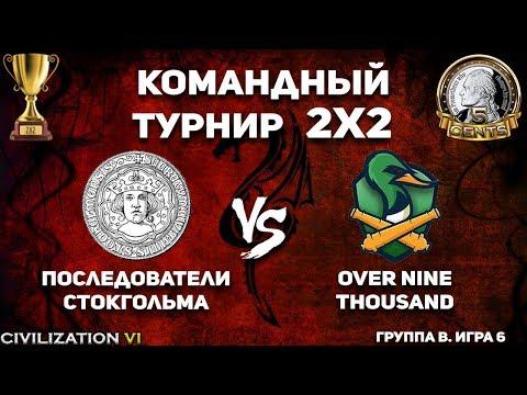 Командный турнир 2х2 Civilization VI. Группа В. Последователи Стокгольма vs. over nine thousand