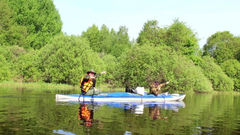 Сплав по реке Волхов (Волхов Мост платформа - Кириши)