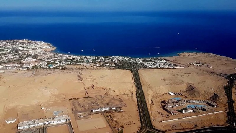 Шарм Эль Шейх с высоты. Flight over Sharm El Sheikh. Egypt. RELAX-VIDEO