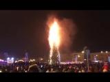 Горит елка в Южно-Сахалинске 1.01.2018