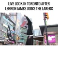 LIVE in Toronto after Lebron joins the Lakers