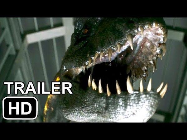 JURASSIC WORLD 2 Trailer MOSASAUR AND INDOMINUS REX (2018)