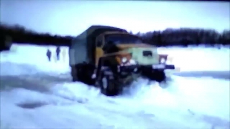На Уралах по зимнику, настоящие монстры бездорожья